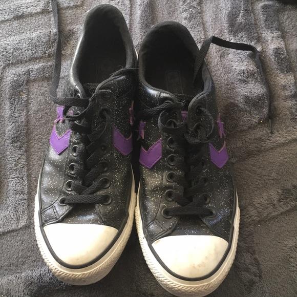 c60c14aa1e29 Converse Shoes - Purple   Black Sparkly Converse